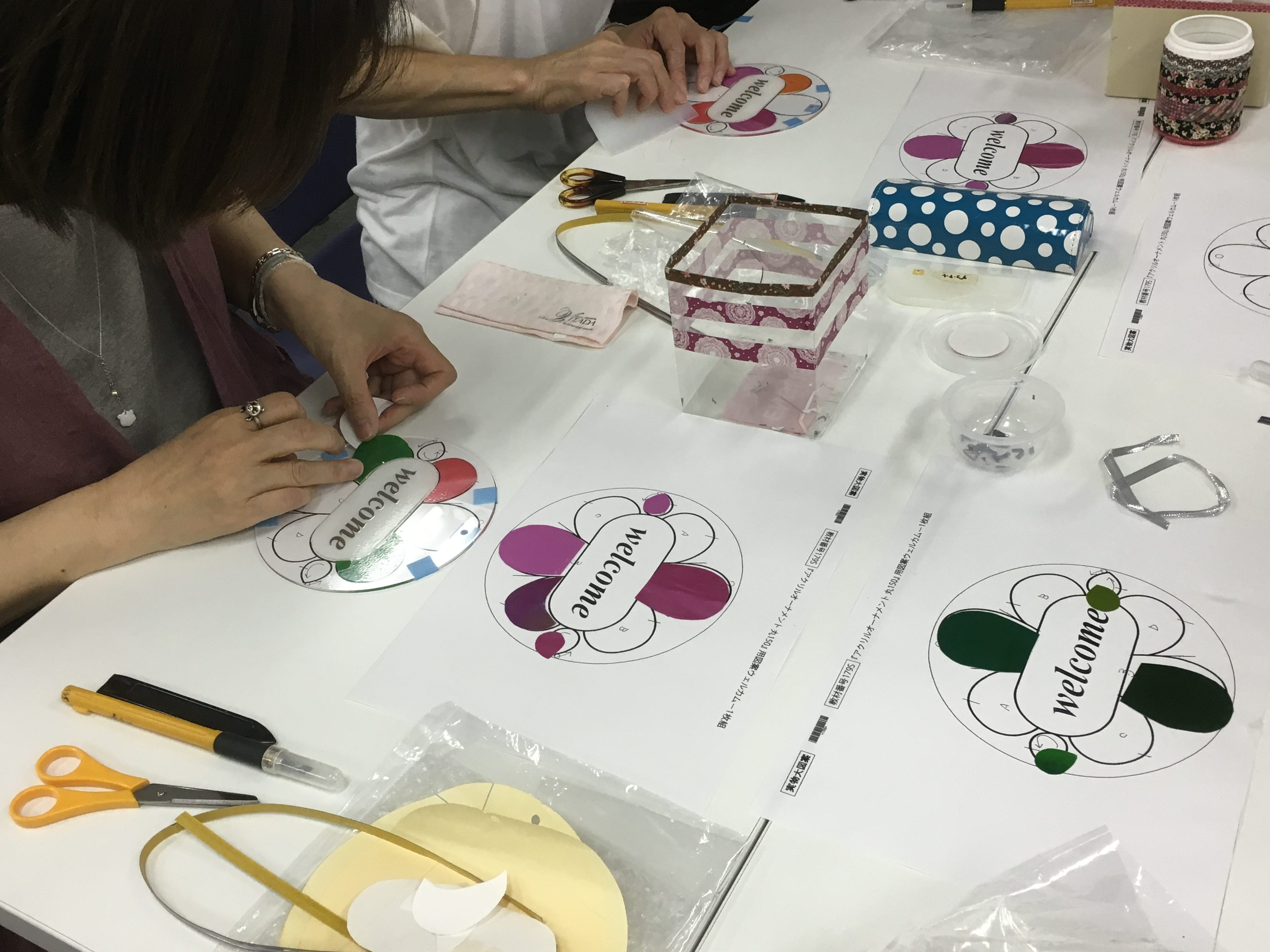【体験教室】グラスアート作りを体験しました